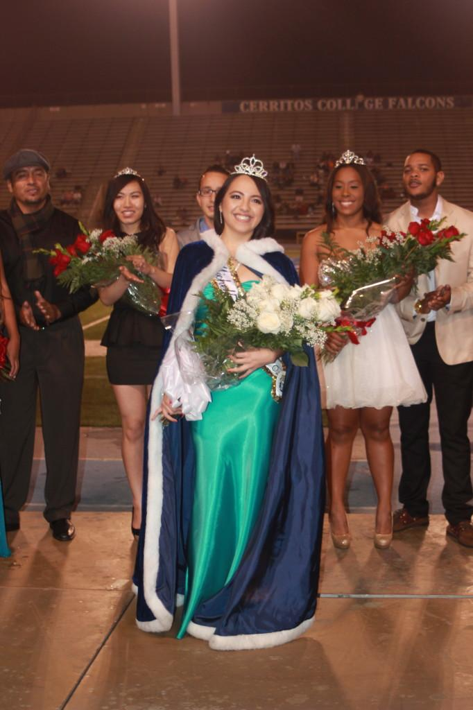 Halftime of the homecoming game, Michelle Mancilla was announces homecoming queen.Photo credit: Alexandra Gomez.