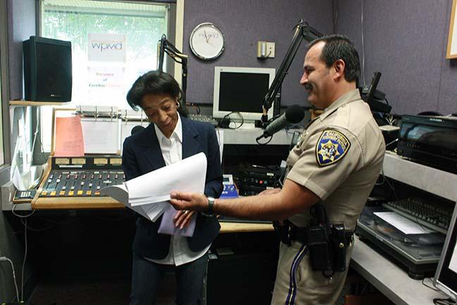 CHP uses Cerritos College radio to educate students