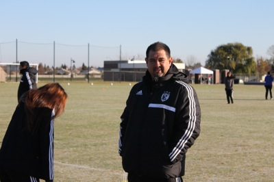 Winning two back-to-back state championships, womens soccer head coach Ruben Gonzalez was awarded National Coach of the Year.Photo credit: Sebastian Echeverry