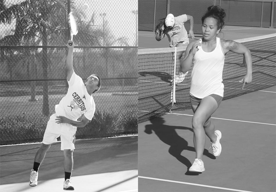 The brother and sister have been playing together since Cabrillo High School and are continuing their sport through college.
