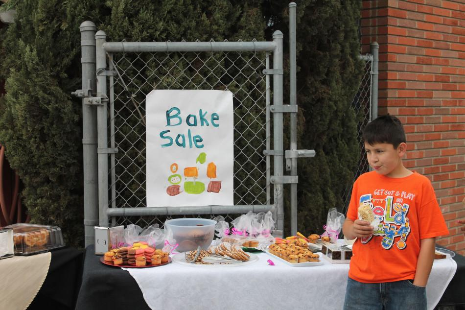 The Child Development center hosted a bake sale to raise money for breast cancer.