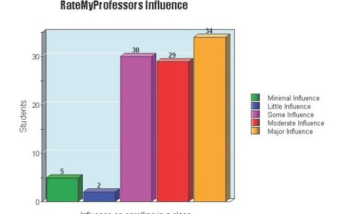 Students are influenced by RateMyProfessors website