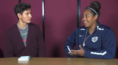 Interview with freshman shot-putt record breaker Destiny Talalemotu
