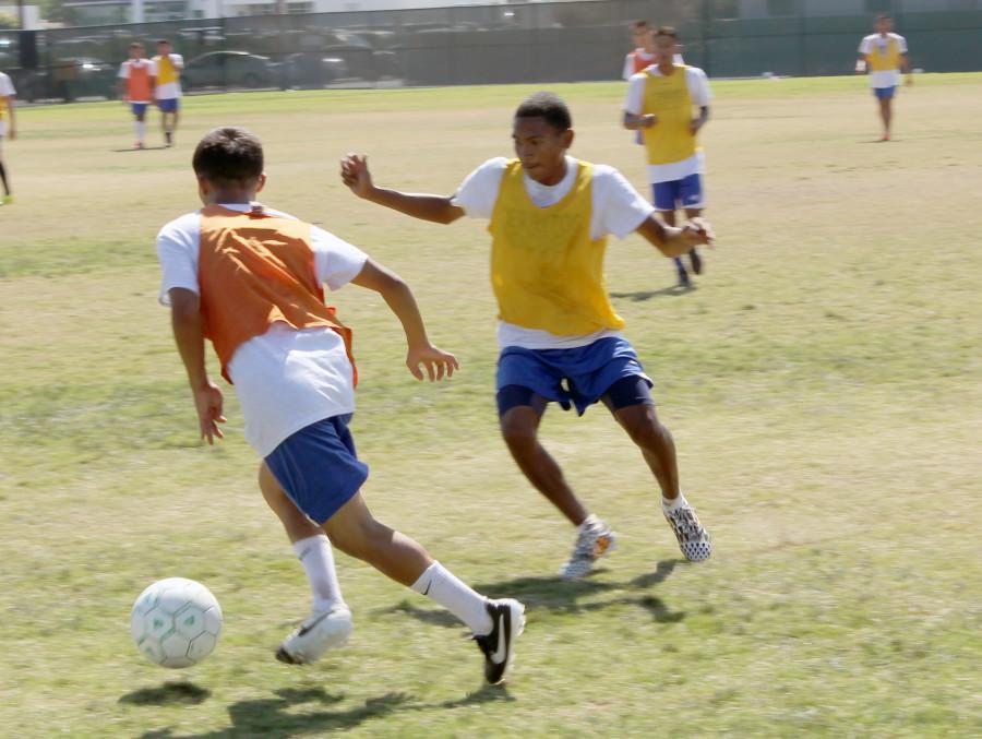 Sophmore Edzon Cuevas Midfielder (Right) and Freshman Andy Ramirez Midfielder (Left)