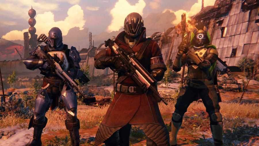 The three classes you can play as in Destiny.