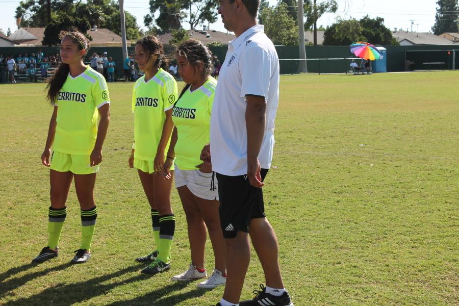 Sister Jaqueline Vasquez was named honorary captain alongside Midfielder Clara Gomez and Forward Nayeli Requejo