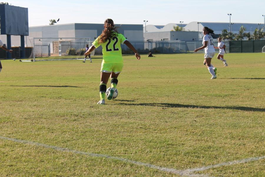 Returning defender Brittany Padilla was beneficial in most of the build up play during the game against LA Pierce.