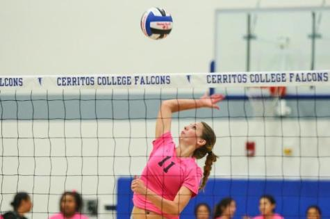 Volleyball opens first dig pink rally game with a win