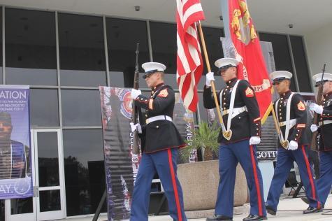 Veterans speak in commemorative ceremony