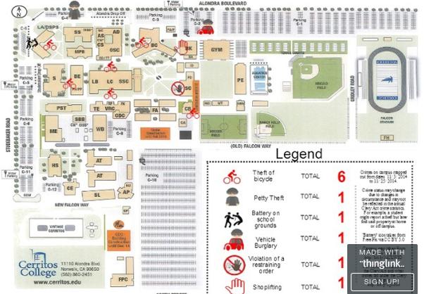 Campus Crime Map: Nov. 2014