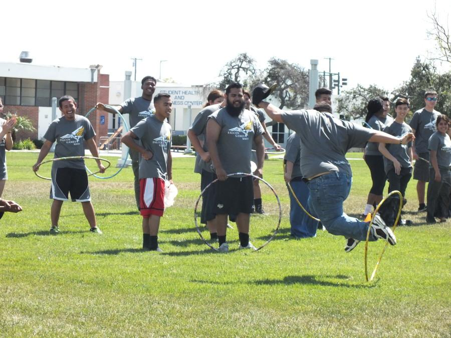 clubs compete in the physical portion of the Falcon Games. Tuesday March 25. Photo credit: Carlos Holguin