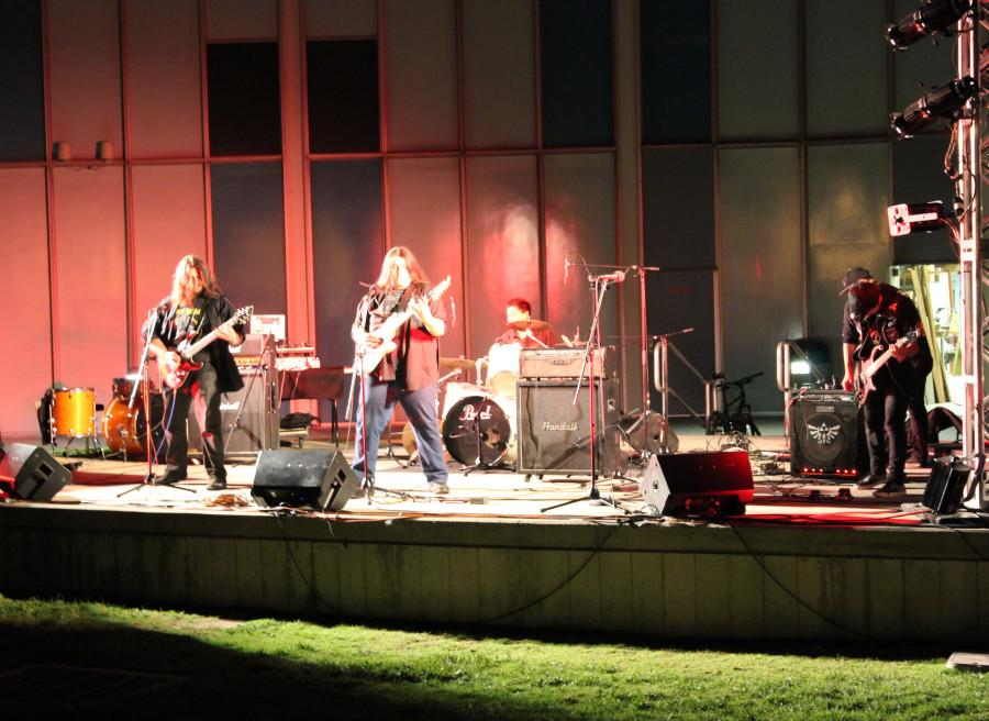 Commercial Music Program hosted its first Battle of the Bands, Wednesday night, April 22.  Metal band, Dragonknite won first place and will play at  the Commercial Music Fair in June alongside Amplified Inception. Photo credit: Nicolette Aguirre