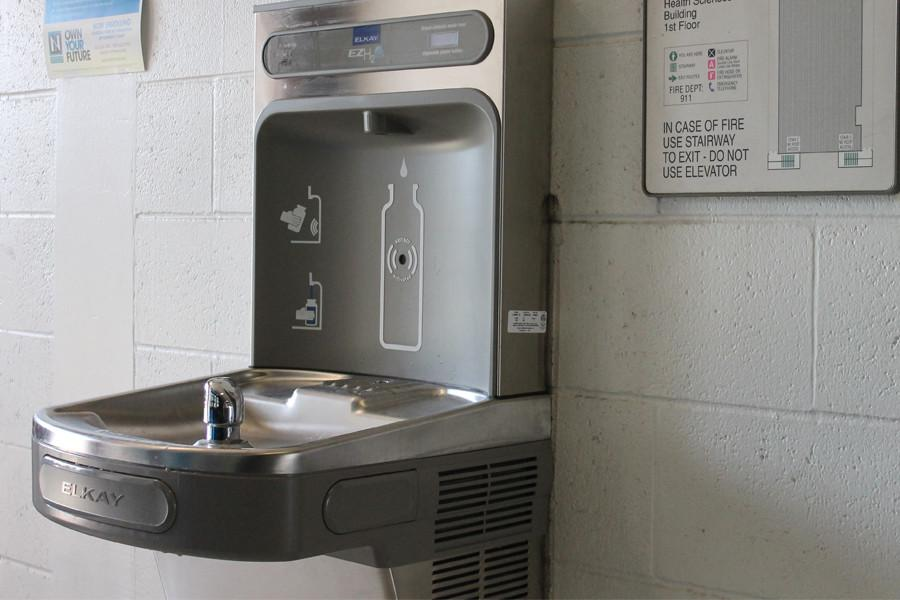 The Hydration Station is located in the Health Science building. Photo credit: Michael Garcia
