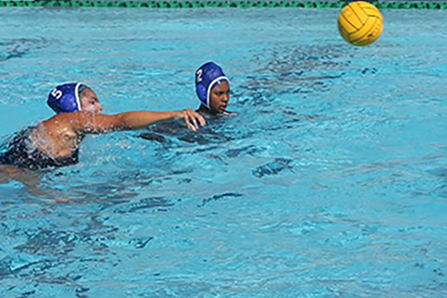 Jenny Parra attacker shooting the ball on goal. Cerritos College won against Rio Hondo College 14-6. Photo credit: Christian Gonzales
