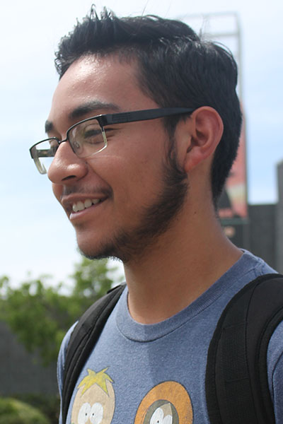 """"""" I think Donald Trump because he has nore presidential experience over Kanye,"""" Diego Perez computer science major."""