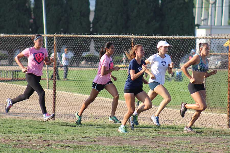 On Friday Aug. 28 the women cross country team held practice at Excelsior Track. The women open their season on Sep.5 at the Mark Convert Open. Photo credit: Christian Gonzales