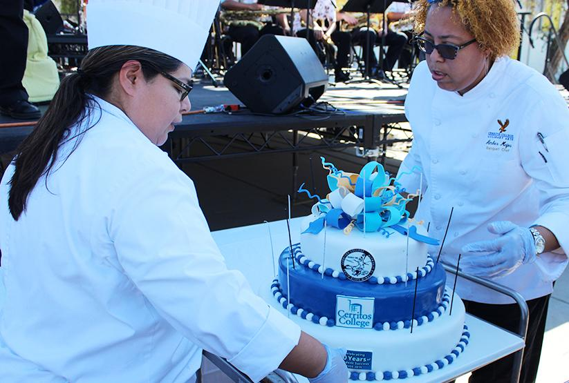 Cerritos College celebrated its 60th Anniversary on Sept. 17. There were clubs selling food, live performaces and even free cake for students and faculty.