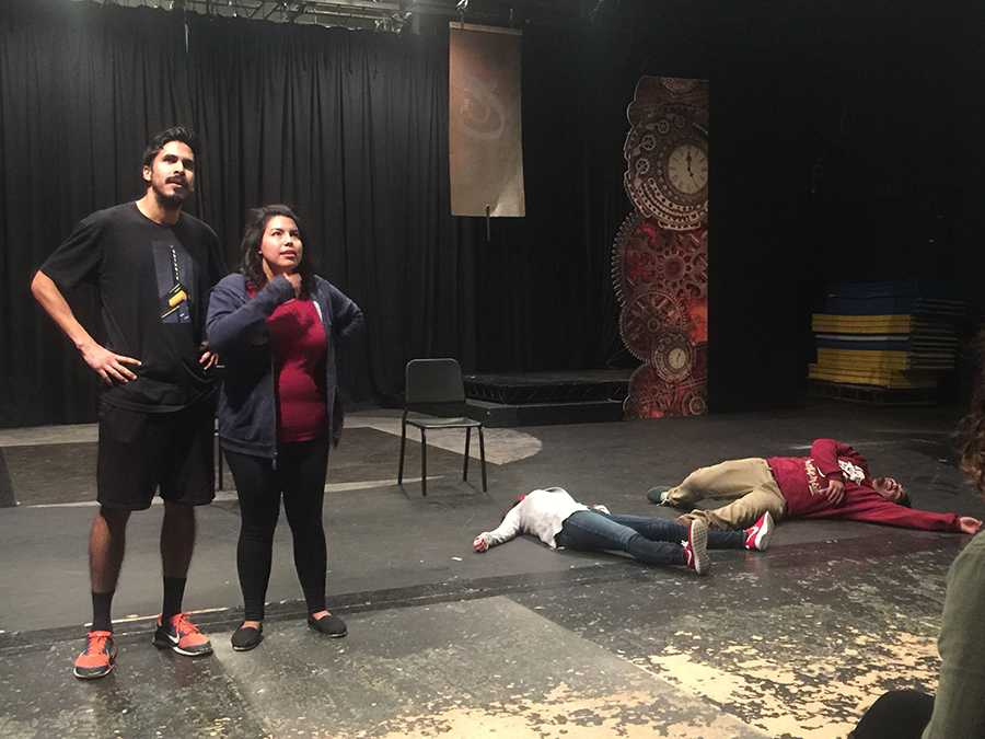 Improv actors during rehearsals for Bring Them Back Alive. The upcoming show will celebrate the 30th anniversary of improv at Cerritos College.  Photo courtesy of Forrest Hartl