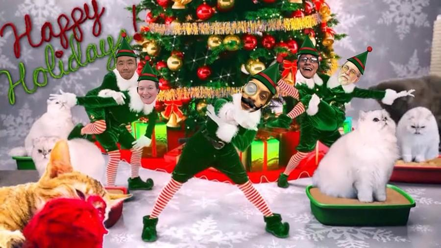 The Elf yourself app lets your turn your friends, family, enemies and virtually anyone into a cheerful holiday performance. Talon Marks members wish you a happy holiday season Photo credit: Ethan Ortiz