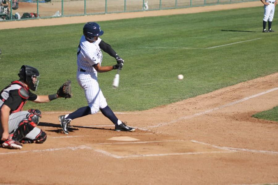 Mark+Pena+leads+off+the+Falcons%27+half+of+the+first+inning+with+a+double.+Pena+went+4+for+5+with+two+doubles+and+two+RBIs+on+the+day.+Photo+credit%3A+Taylor+Ogata