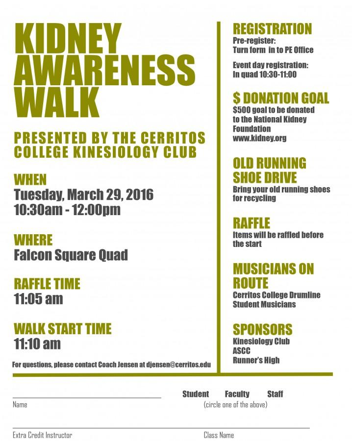 Kidney Walk Flyer