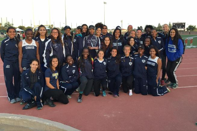 Cerritos track and field competing for state