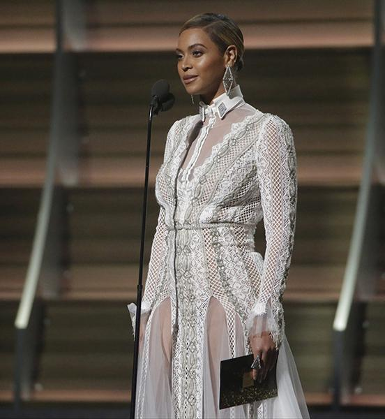 Beyonce on stage at the 58th Annual Grammy Awards on Monday, Feb. 15, 2016, at the Staples Center in Los Angeles. (Robert Gauthier/Los Angeles Times/TNS)