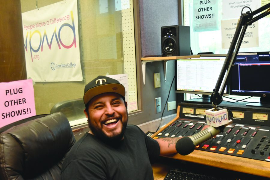 Jessie Mendoza hosts his show called Spinning out of Control. He will be going onto his third year of having air time on WPMD. Photo credit: Briana Velarde