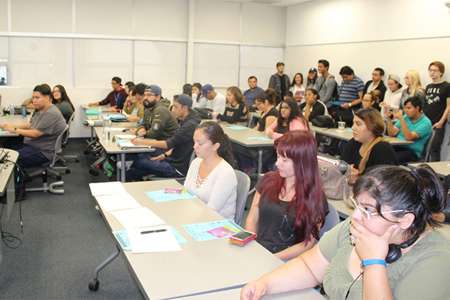 During the Career Service Workshop on Disney College Program Internships room BE 106 was at its maximum capacity. Students attended to learn about opportunities and requirements to apply to the program. Photo credit: Lizette Sainz