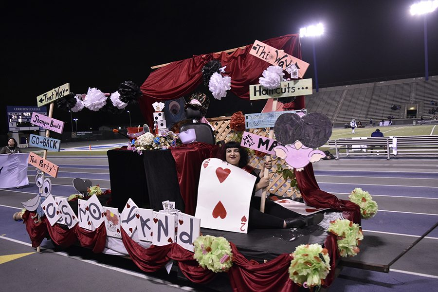 The Cosmetology Club took the ASCC Award on Saturday, Oct. 15 with the Alice in Wonderland float. The award was for best design. Photo credit: Briana Velarde