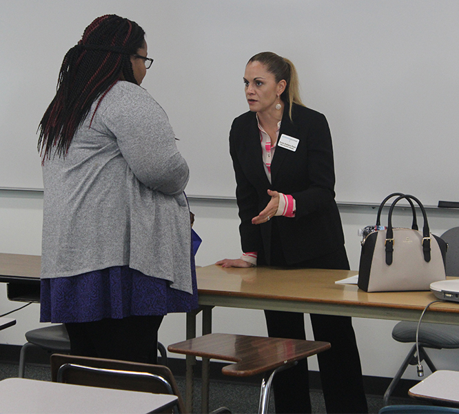 Sociology major, Taylor Harden was one of the 12 students who attended the workshop enterprise rent a car. She was interested in obtaining more information on how to present yourself at an interview and what to take with you.