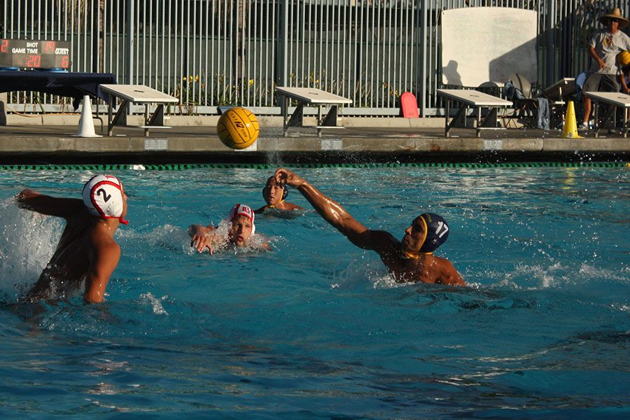 Sophomore Angel Rojas takes a shot passed  the Long Beach City defense in hopes of finding the back of the net. The Falcons would go to lose 11-9 against the Vikings. Photo credit: Max Perez