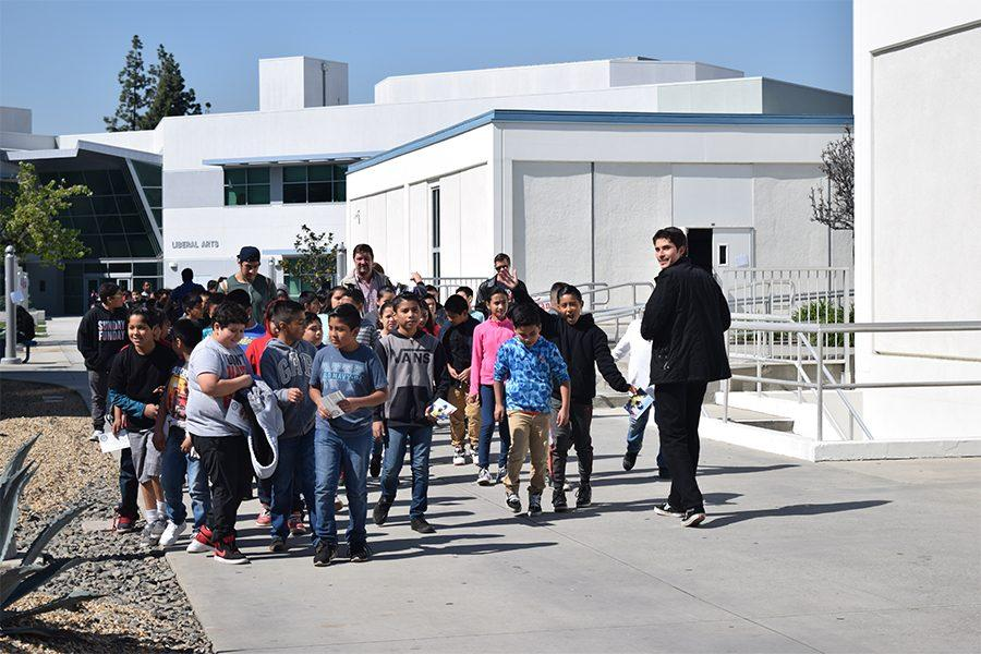 Students from Dolland Elementary School were given a tour of the Cerrito College during the Falcon Kids event. The young made their way to every corner of campus. Photo credit: Marck Parra