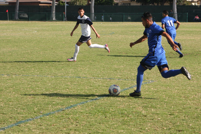 Marc Calderon,7 setting up a pass that ended up being the fourth goal of the game. Falcon's ended the game with a score of 7-0.