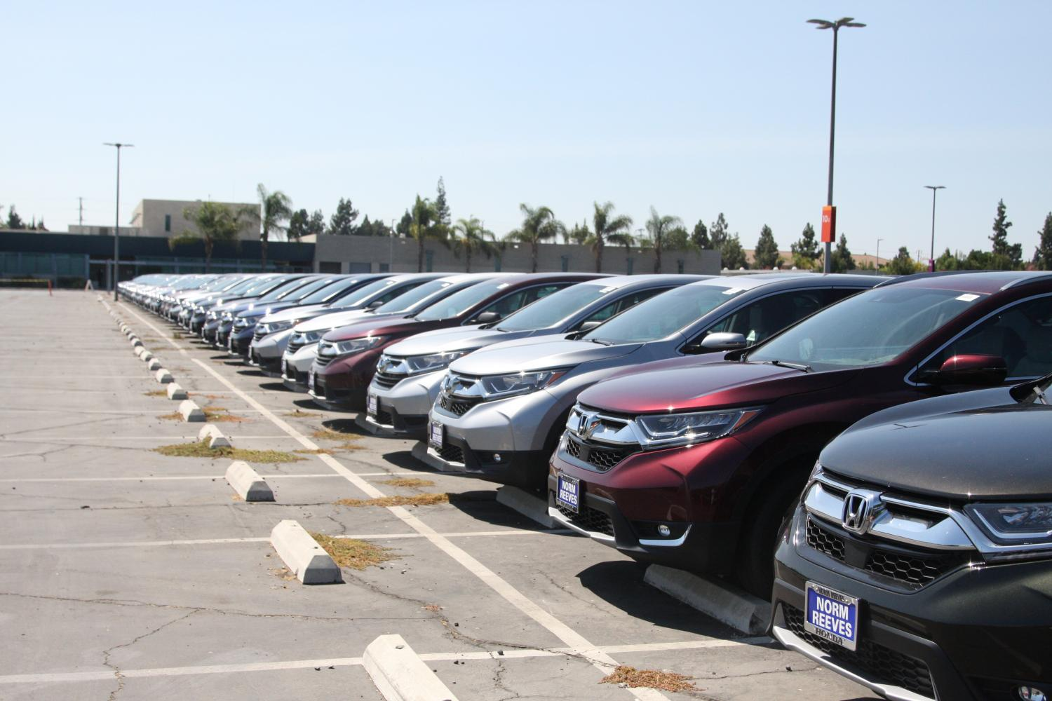 Norm Reeves Honda Are Taking Up Two Whole Rows Of The South Parking Lot Of  Cerritos