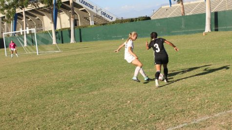 Women's soccer wins first game