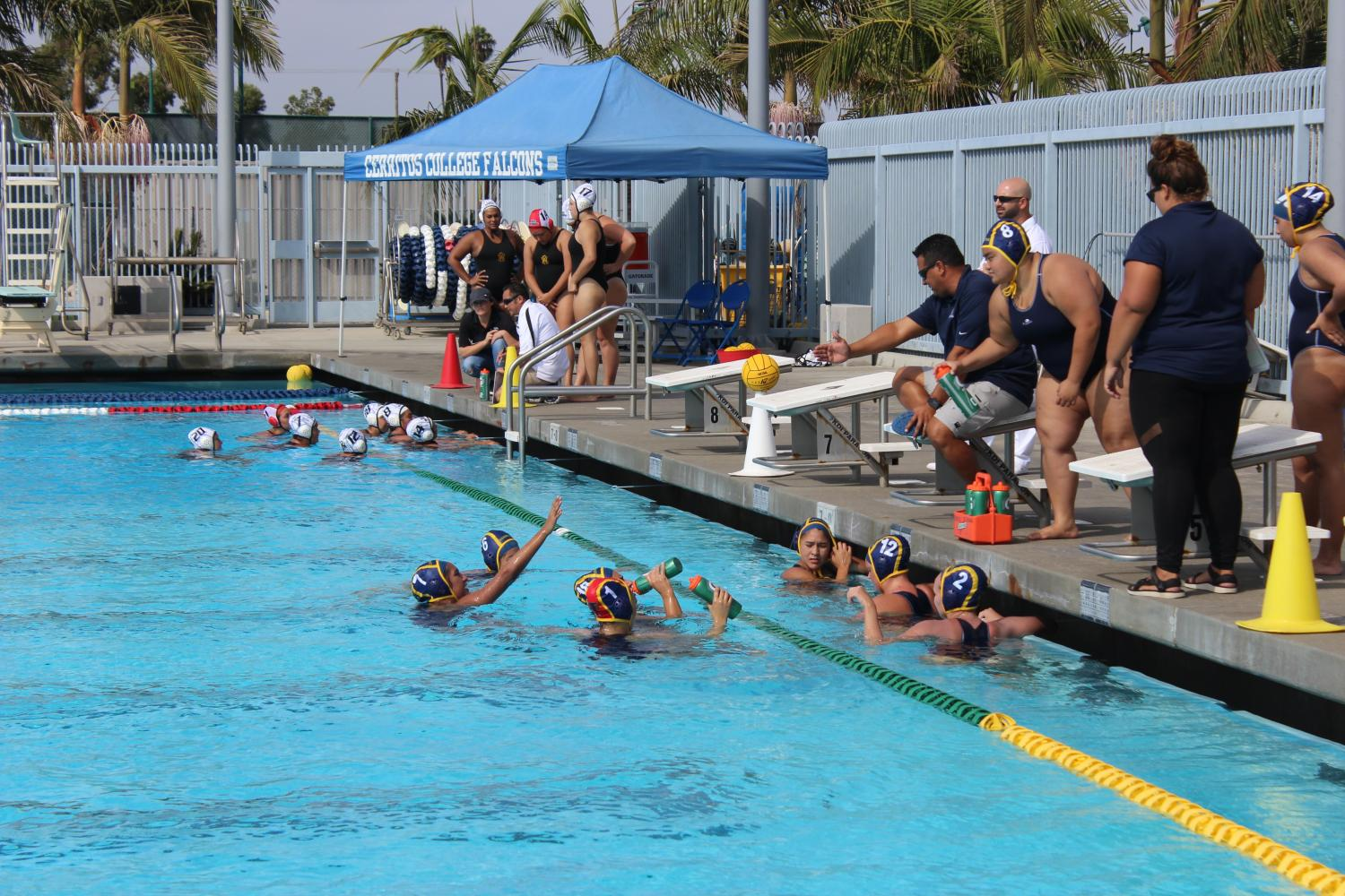 Women's water polo finish off strong