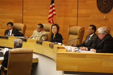 City council during discussion of approving the teprary use permit