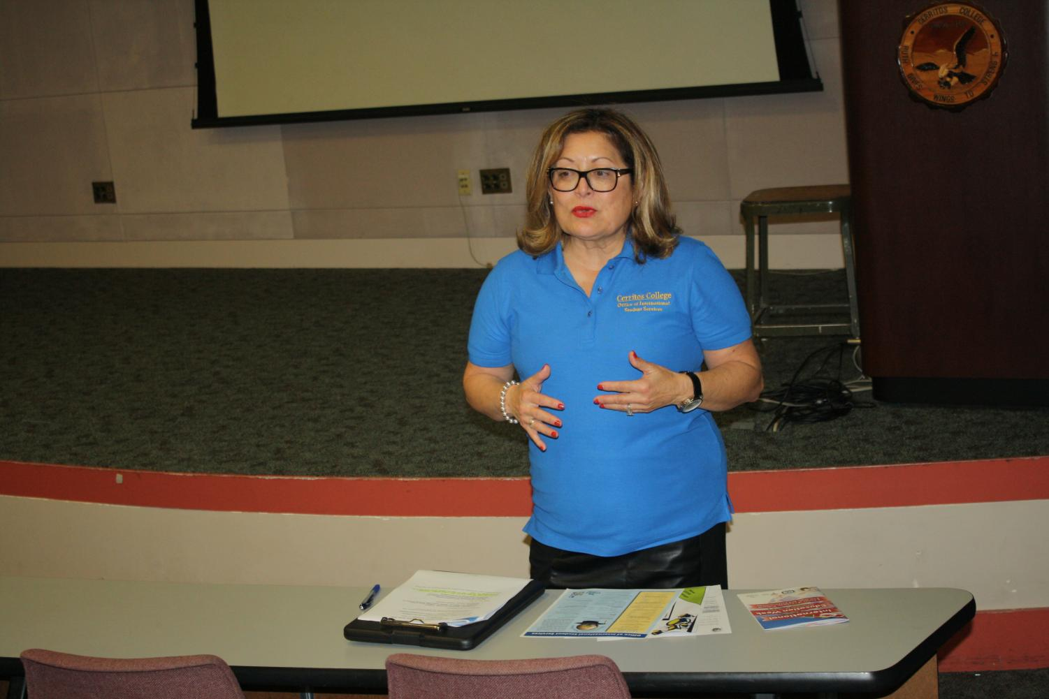 Director of Student Services Program, Norma Rodriguez explained how Chicano Studies is important to society. Chicano Studies can prepare students for different careers as well. Photo credit: Nicholas Johnson