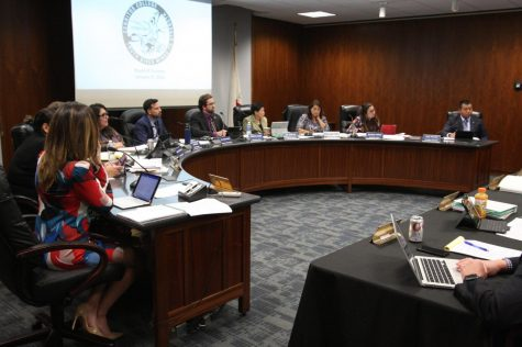 The Board of Trustee same to a had a controversial night as they meet with a packed room of students and staff. They unanimously voted against agenda item 33, to not renew Zebra Coffee contract.