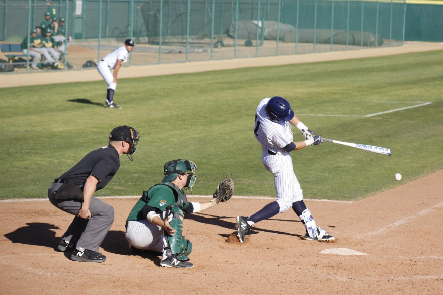 Sophomore center fielder Nick Penzetta was at bat four times. Penzetta had one RBI this game.