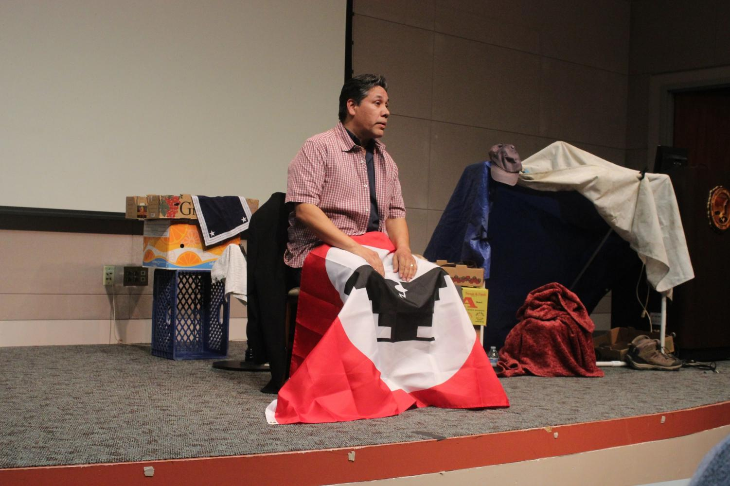"""""""A Moment With Cesar Chavez"""" is a performance written, adapted and performed by Roberto Alcaraz, actor and lecturer at Cal State Long Beach. It was based on Chaves and the Chicano movement."""