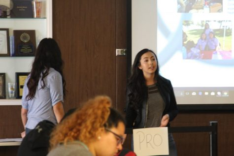 Students learn about college services