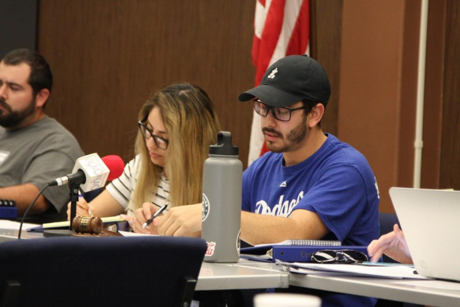 Vice presidents of the Associated Students of Cerritos College David Ramirez was displeased by actions taken in senate. He said,