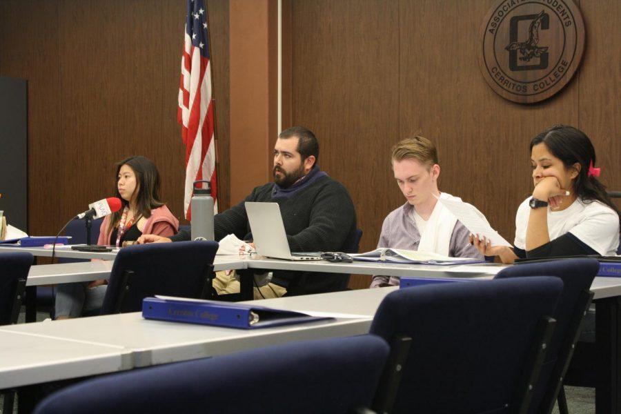 Senator Christopher Rodriguez, Senator Robert Campbell and Senator Graciela Espejo listen to Vice President David Ramirez give his presentation. Campbell said that while this was