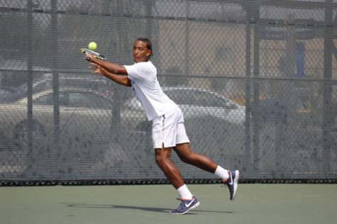 Falcons' men's tennis team battle each other in the finals
