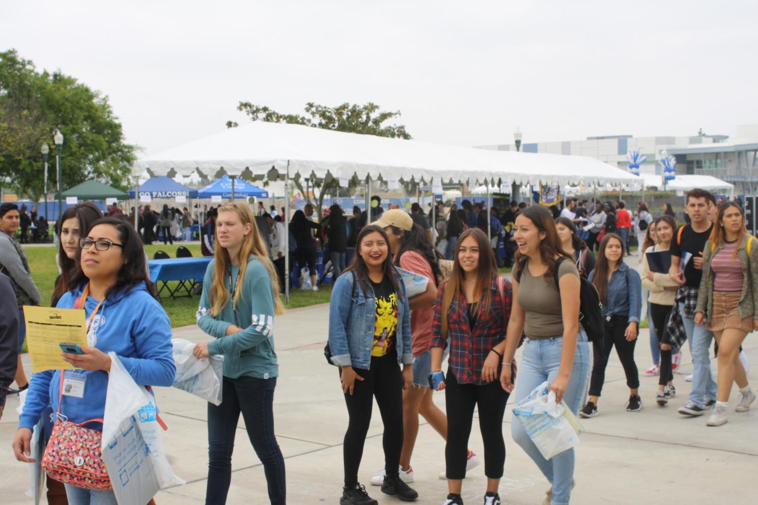 Future Falcons visit campus on Senior Preview Day