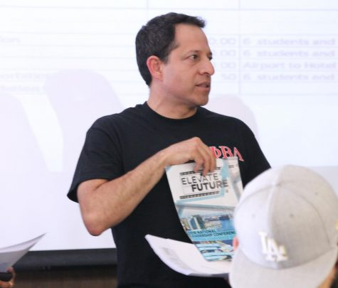 Advisor of the Phi Beta Lamda club, Jerry Ramos, spoke to the Associated Students of Cerritos College Senate asking for funding. He plans to use the funding to attend a leadership connference in May.