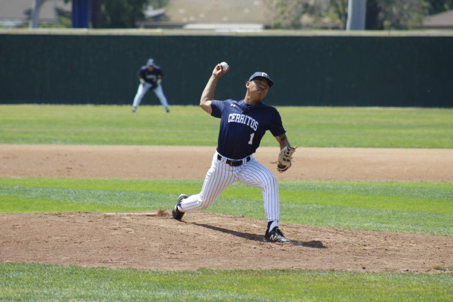 Sophomore pitcher Micah Hee improved to 4-2 on the season. Pitching five innings, Hee face 26 batters.