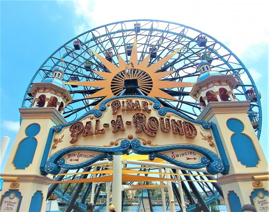 Pixar Pier's newly themed wheel, Pixar Pal-A-Round. The Pal-A-Round will feature 24 Pixar characters on its gondolas.